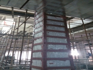华润万家柱体包钢加固工程